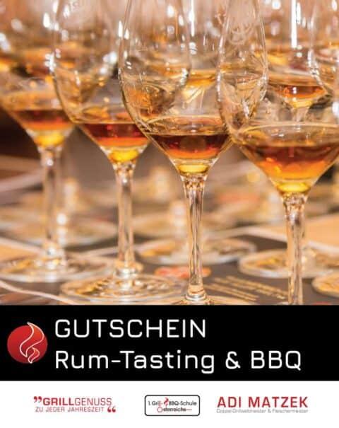 Rum Tasting mit Grill & BBQ Buffet Gutschein