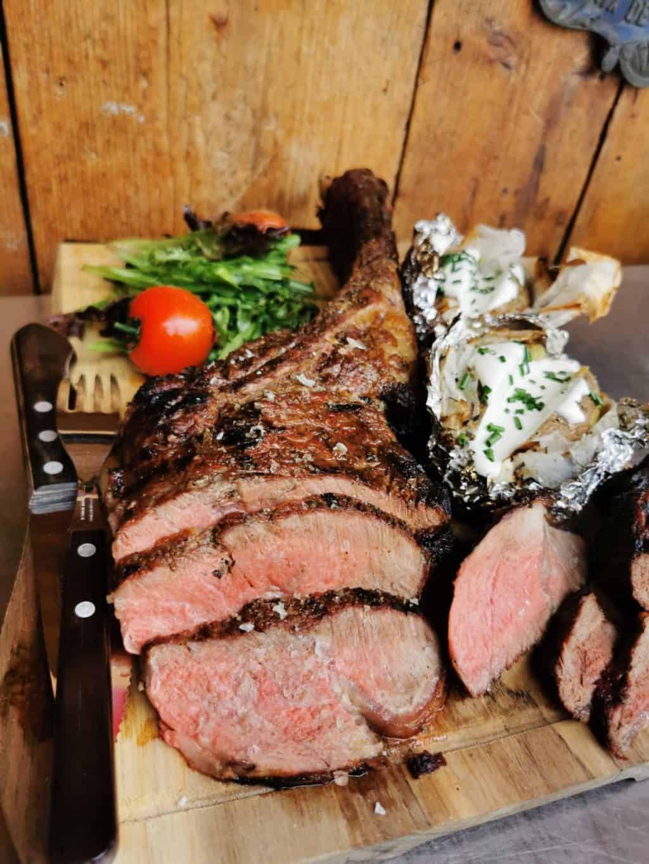 42. Tag Tomahawk Steak grillen Corona Tagebuch Bild 4